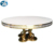 Luxury  gold stainless steel banquet dining  table set marble top
