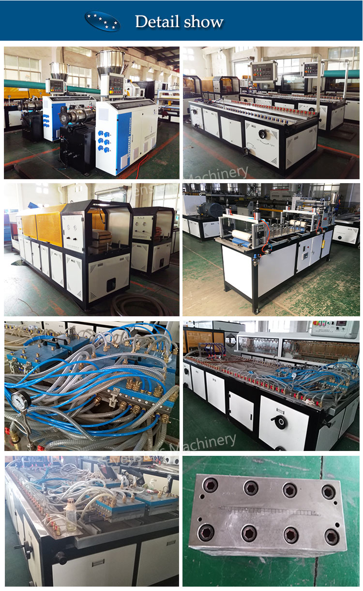pvc double screw baffle ceiling frame extrusion machine
