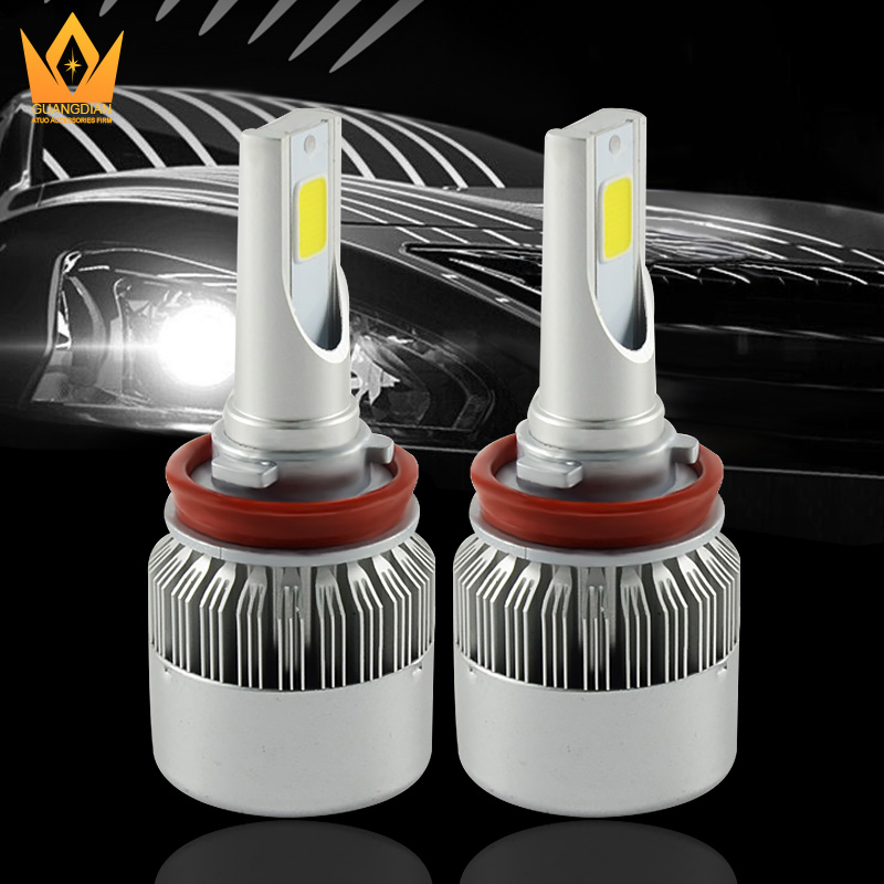 Tcard <strong>auto</strong> lighting light 9-16V C6 car COB fog lights lamp 3300LM 32W 6000K <strong>H10</strong> LED Headlight
