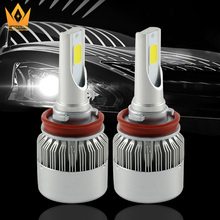 Tcard auto lighting light 9-16V C6 <strong>car</strong> COB fog lights <strong>lamp</strong> 3300LM 32W 6000K <strong>H10</strong> LED Headlight