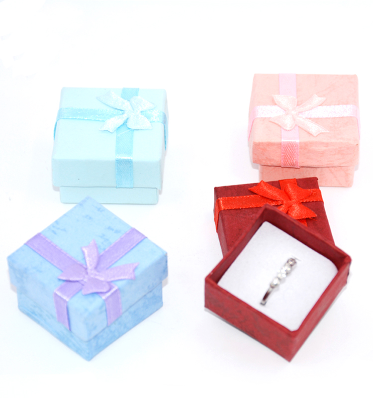 Fashion Colorful New Jewelry Organizer Box Rings Storage Cube Box Small Gift Box For Rings Earrings