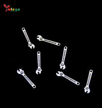 Wholesale manufacture fashion mini alloy necklace <strong>charms</strong> wrench shape alloy pendant jewelry accessories supplies