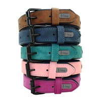 Didog Hot Sale New Customized Microfiber Leather Dog Collar For Small Medium Large Dogs