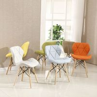 Restaurant fabric Chair wood leg upholstered leisure restaurant dining chair