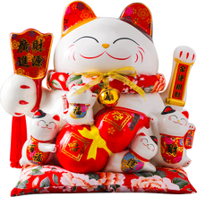 14 inches Waving <strong>ceramic</strong> Lucky Cat home furnishing <strong>gifts</strong>