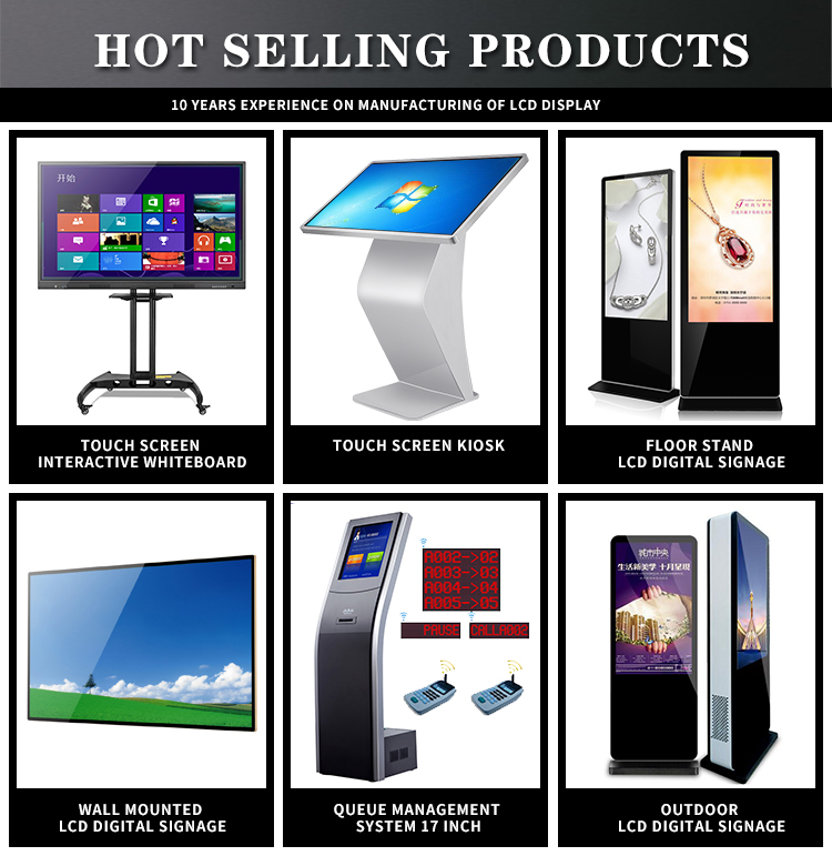 Professional Indoor Floor Stand display TV screen vertical LCD Advertising
