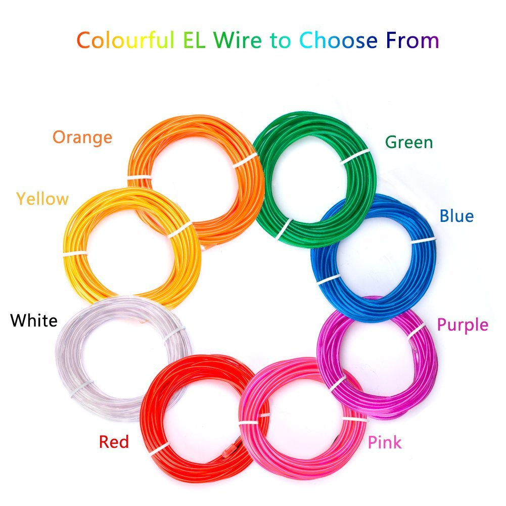 Christmas Item Party Gift LED Neon Glowing Light EL Wire for Nightclub Party Colorful Neon EL Wire