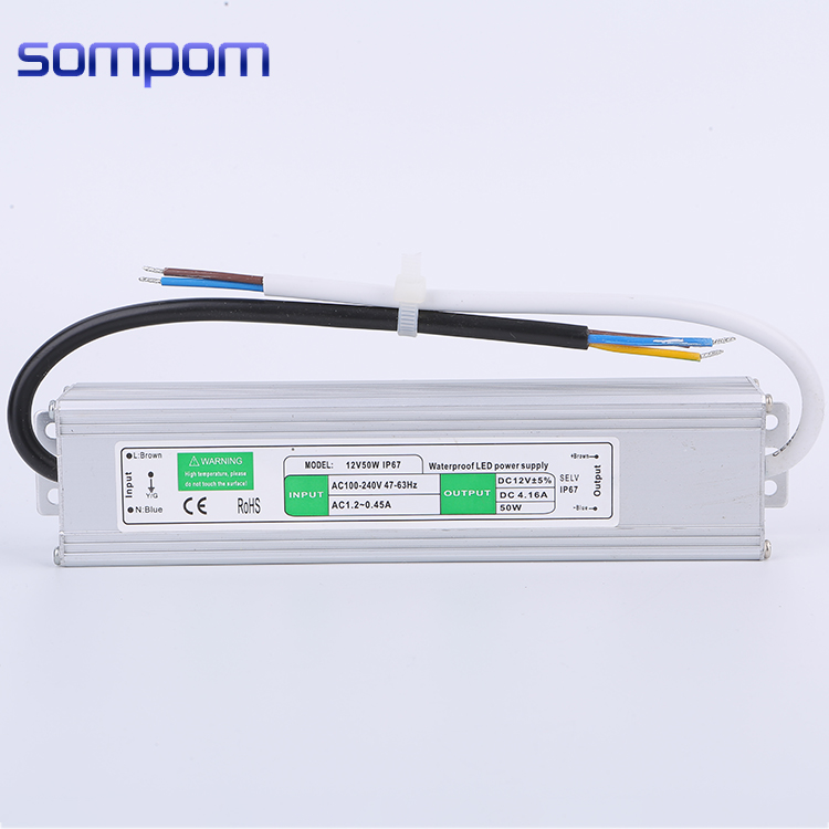 Waterproof 220V power switch 12v 50w 4.16a for led driver