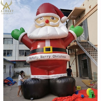 Santa father shape decoration christmas inflatables for celebrate christmas different size