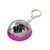 Portable multi-function back silicone sucker phone holder front earbuds in transparent plastic semicircle shaped ball keychain