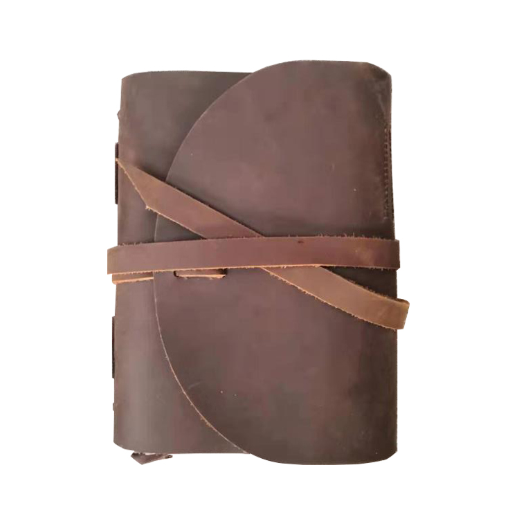 Top quality crazy horse leather notebook Retro Style hot selling vintage design