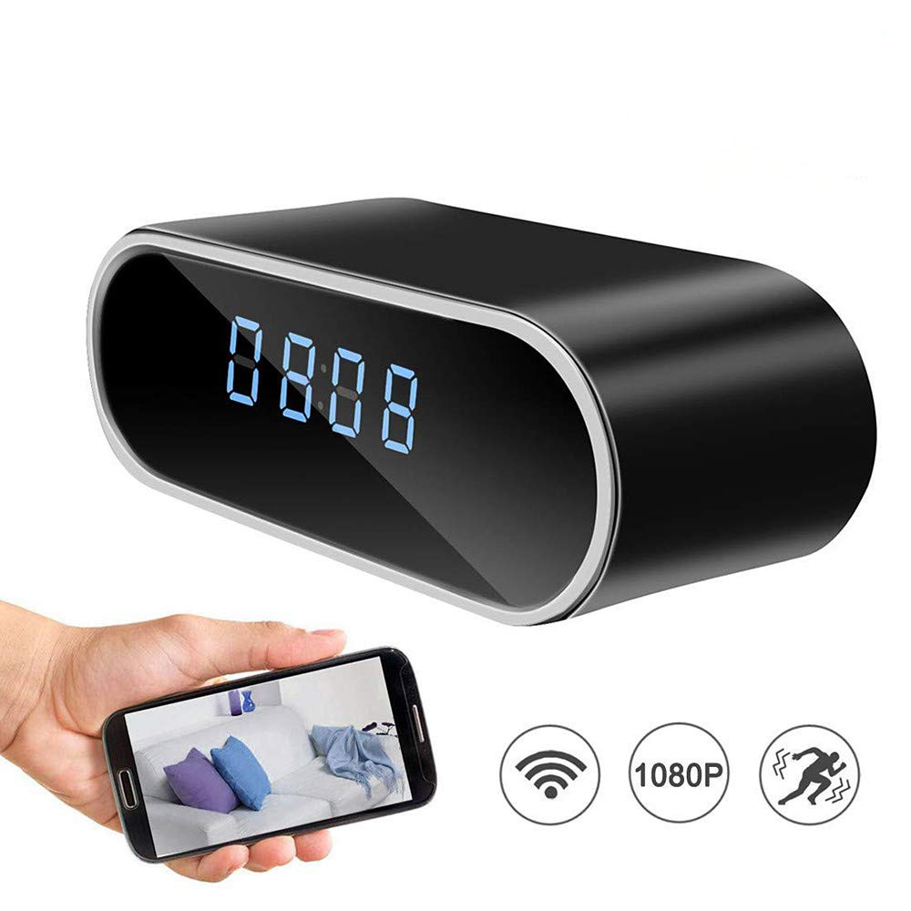 Amazon Best-Selling Smart Desk Clock Spy Camera 1080P HD Home Security With Night Vision Mini Hidden IP Camera