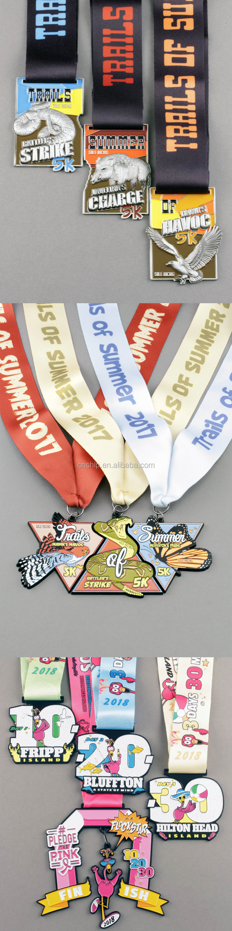 Cheap customized antique metal soft enamel marathon award medals