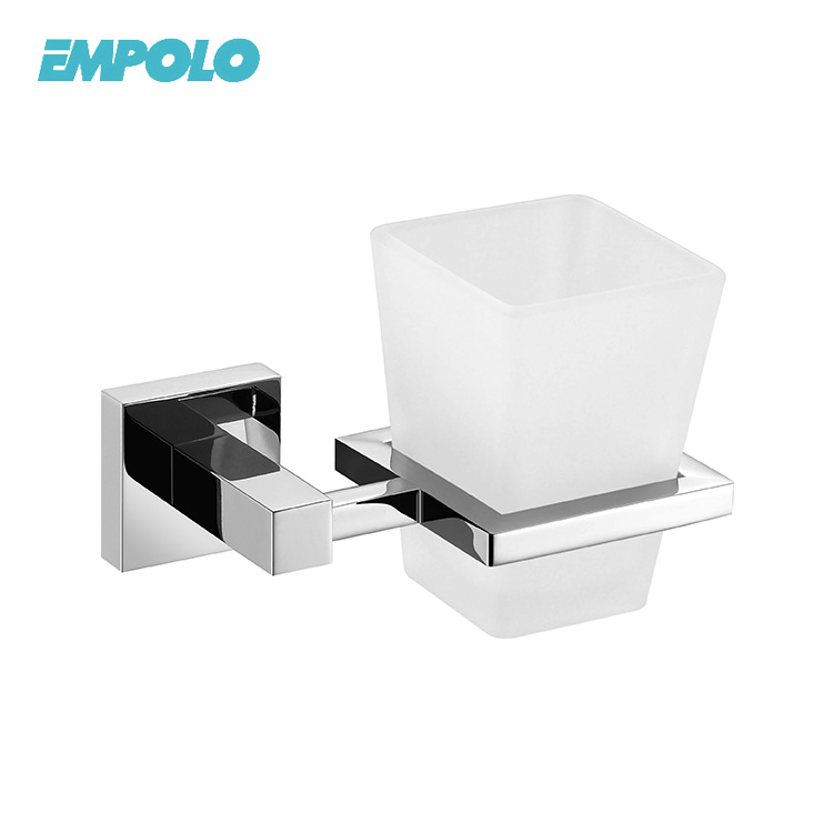 Bathroom Accessories Wall Hanger Single Square Shape Tumbler Holder