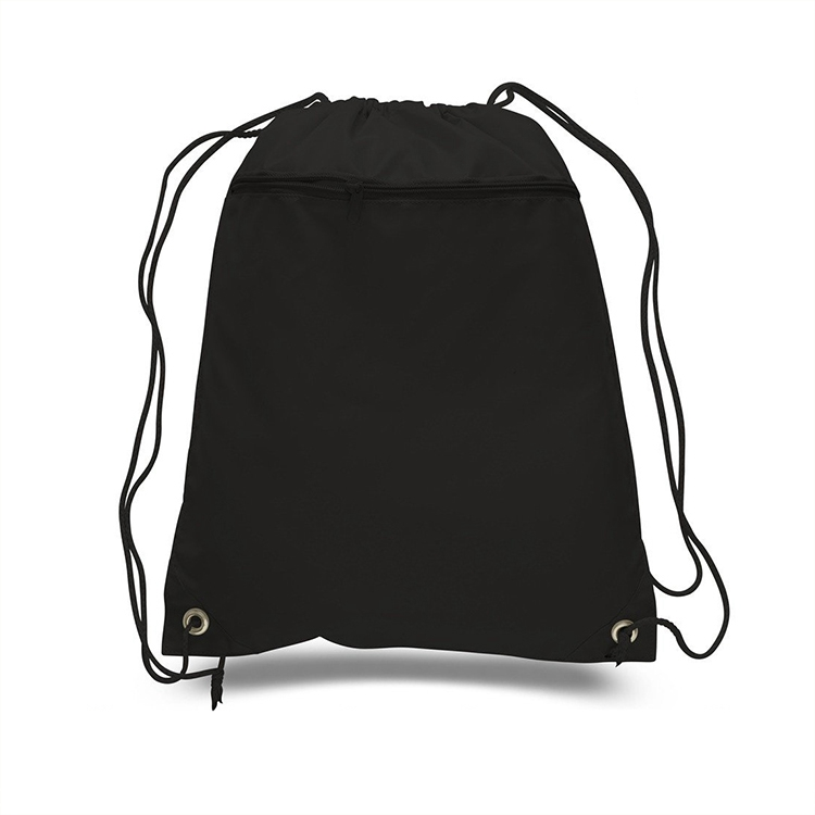 bulk canvas black small cloth drawstring bag with logo print