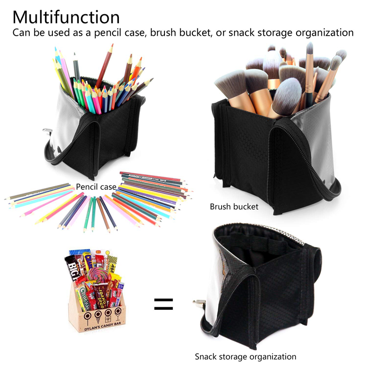 OEM High Capacity Portable Stand-Up Makeup Brush Holder