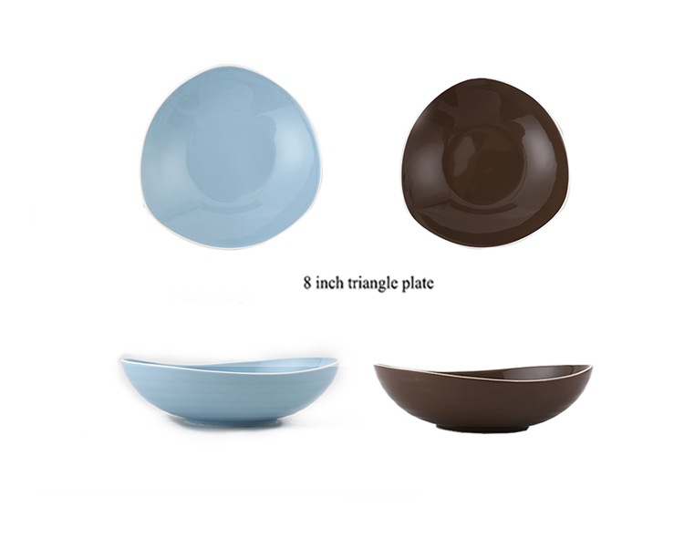 2019 certification kitchen japanese salad triangle plate