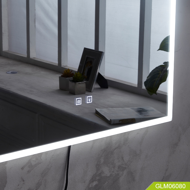 Smart environmental protection mirror cna connecting bluetooth with speaker
