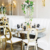 Restaurant Dining Room Furniture Marble Wedding Stainless Steel Dining Table