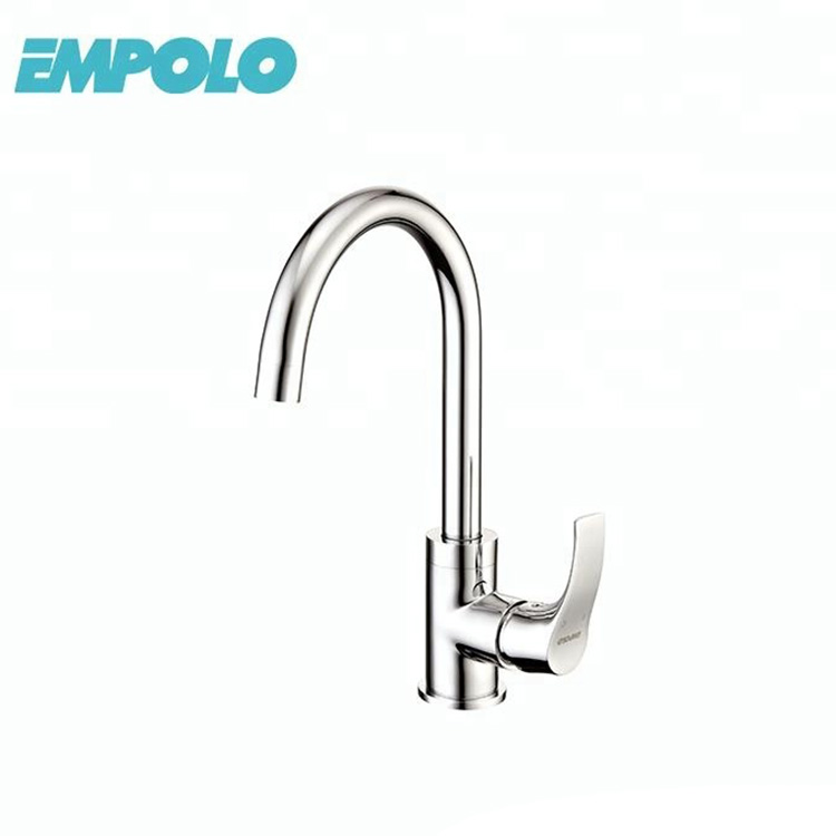 Single handle hot and cold kichen tap brass kitchen sink faucet