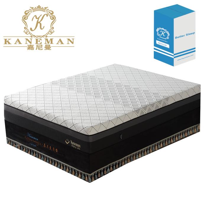 30cm Luxury latex viscoelastic memory foam roll mattress in box - Jozy Mattress | Jozy.net