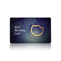 Single protection NFC 13.56mhz anti-theft rfid blocking card rfid chip credit card