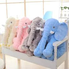 Wholesale 60CM multicolor Soft stuffed animals toy baby sleeping plush elephant pillow skin