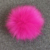 Fluffy Faux Fox Fur Pom Pom with Press Button Removable Knitting Hat Accessories
