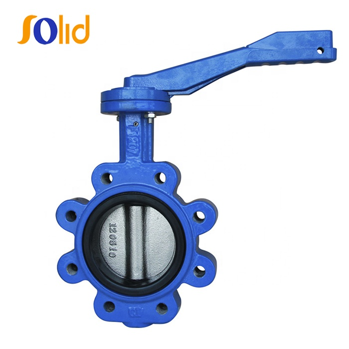 Manufacturing Ductile Cast Iron Lug Type Manual Butterfly Valve Price