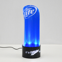 Factory Custom Acrylic LED Lighting Wine Bottle Glorifier Single Bottle Display