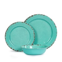 Disposable own design cheap price suppliers rustic melamine dinner plate
