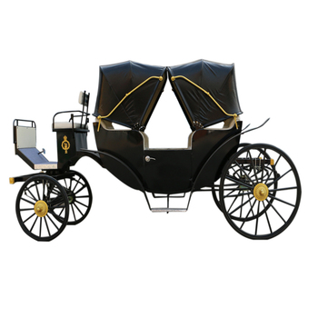 Luxury four wheels sightseeing horse carts and carriages for sale
