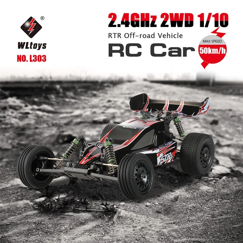 2019 New Remote Control Toys WLtoys Original L303 2.4GHz 50kmh 2WD RC Car 1:10 Electrics Brushed wltoys off road truck rc Radio
