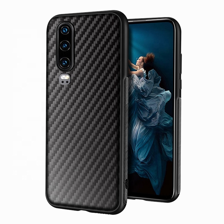 Phone Case Factory Carbon Fiber Print Mobail Cover TPU Handphone Casing for Huawei P30 Pro P40 lite Mate 30 Enjoy Z <strong>P</strong> smart 2020