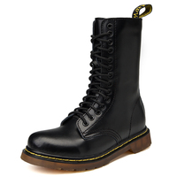 Stylish Hot Sell Custom Genuine Leather Height Increasing Mens Women Martin Boots
