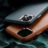 Waterproof Cover For iPhone Leather Case Customized logo Offical Leather Phone Case Cover For iPhone 12 Leather Case