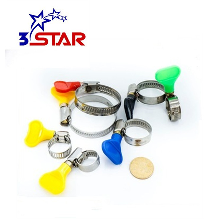 American telescopic tube <strong>c</strong> type stainless steel quick release pipe hose clips clamps with thumb screw/handle