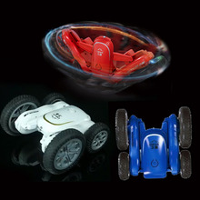 new automatic shutdown remote control toy 2.4GHz double side rolling stunt rc car with music light