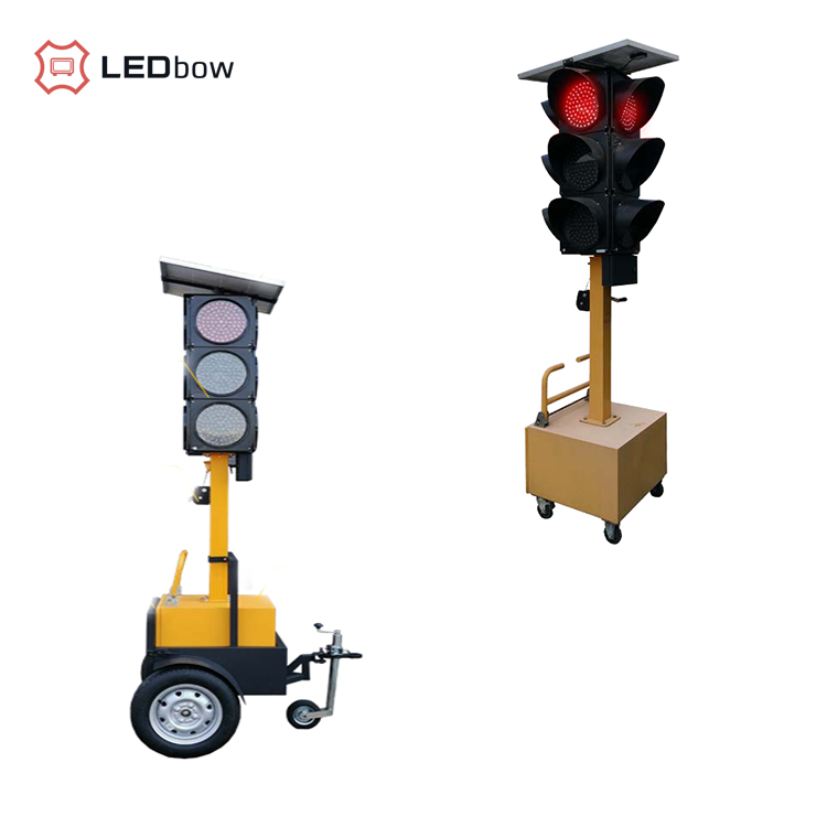 Ledbow Highway waterproof  Solar wireless mobile led traffic warning light