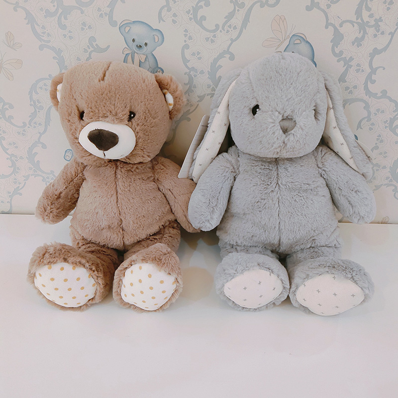 Stock promotional soft toy teddy bear and rabbit <strong>plush</strong> for girl wholesale