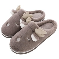 Winter Men Home Slippers with Faux Fur Warm Indoor Slippers Men Slip on Flats Female Slides