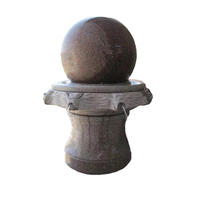 Garden Fengshui Round Marble Stone Carved Rotating Waterfall Indoor Rolling Granite Floating Water Fountain Ball