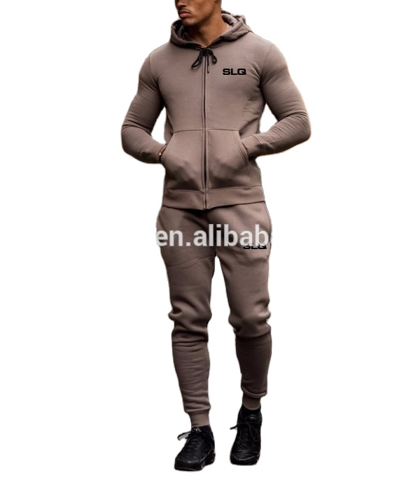 Hot Sale Customized Men Tracksuit/Men Fleece Lining Sweatsuit/Custom Made Men Jogging Suit Made in China SLQ-V-0715