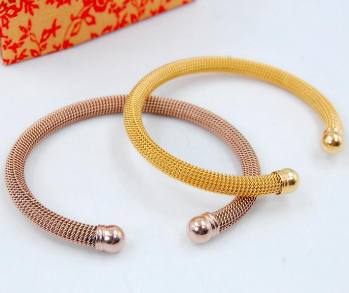 Factory Customize Trendy Stainless Steel Various Diameters Shiny Polished Tube Wire Cuff Bangles Bracelets