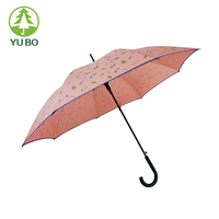 hot sale custom logo auto open all over print straight umbrella cheapest