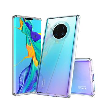 Crystal Clear Hard Acrylic Hybrid TPU Cover Bumper Back Case For Huawei Mate 30 Pro
