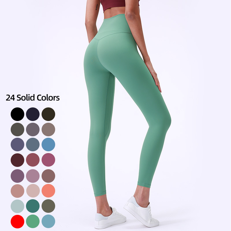 Neon color 80%Nylon 20% spandex buttery soft V high waist workout <strong>fitness</strong> yoga wear tight pants leggings for women