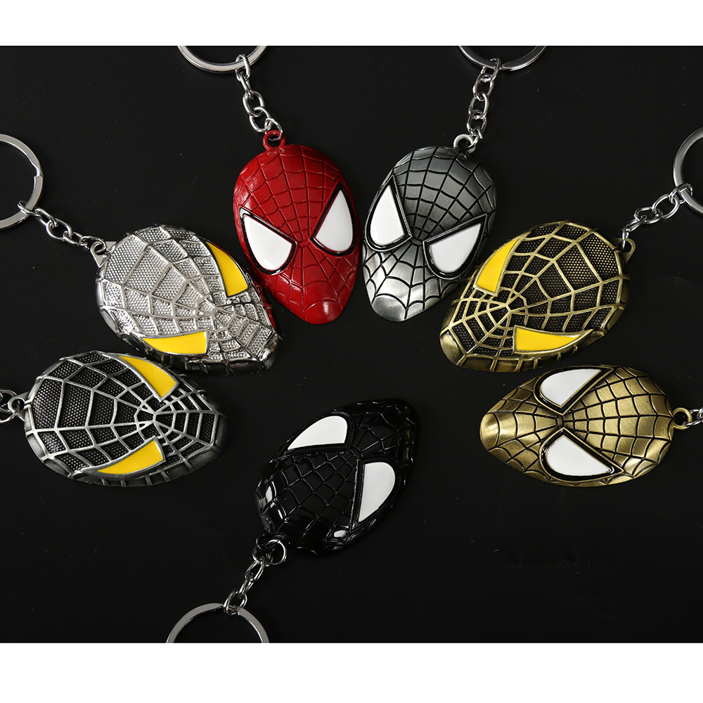 Mortal Kombat Fighting Game S.H.I.E.L.<strong>D</strong>. spider man Marvel Heroes iron man captain america Logo Keychain