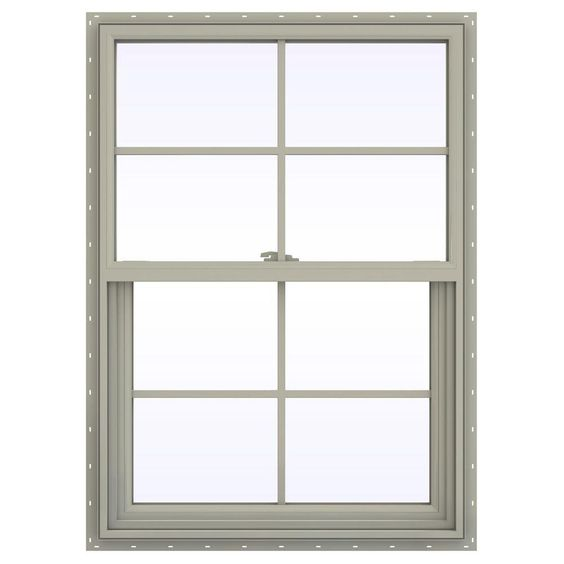 New design thermal break aluminium powder coated  double hung window