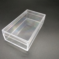 Factory price professional transparent hard plastic girl ornaments storage box gift packing box with lid